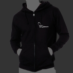 Black Solar Flare Mens Zip Up Hoody