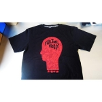 """""""Full Time Hobby At 10"""" Tee - Red on Black"""
