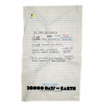 White 20,000 Days On Earth Tea Towel