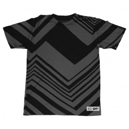 BLACK/GREY ZIG-ZAG TEE