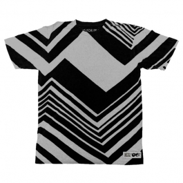 BLACK/WHITE ZIG-ZAG TEE