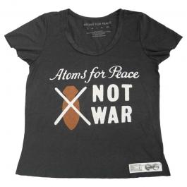 NOT WAR GIRLS BLACK SCOOP T-SHIRT