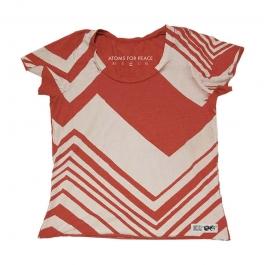 RED/WHITE ZIG-ZAG SCOOP NECK
