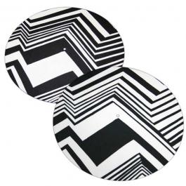 BLACK AND WHITE ZIG ZAG SLIPMATS