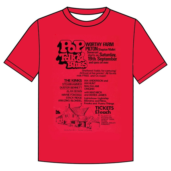 1970 Glastonbury Poster T-shirt (Unisex)