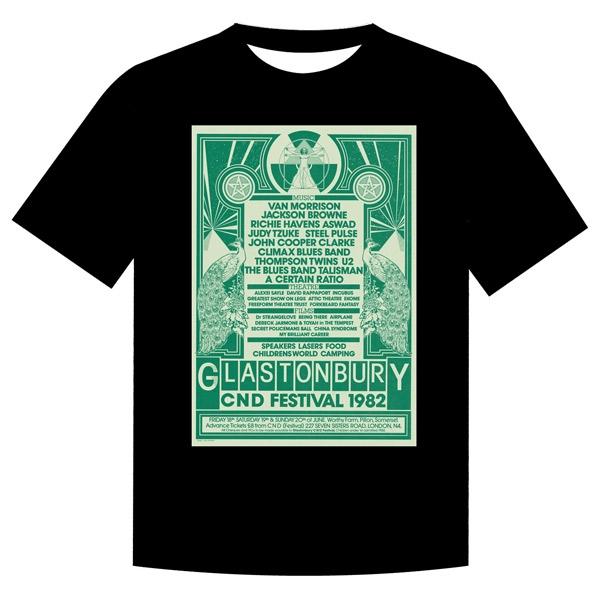 1982 Glastonbury Poster T-shirt (Unisex)