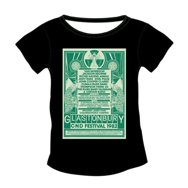 1982 Glastonbury Poster T-shirt (Womens)