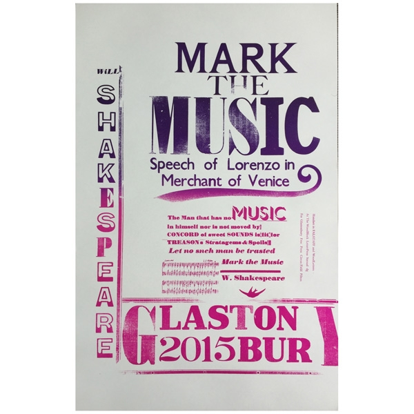 """MARK THE MUSIC"" FREE PRESS POSTER"