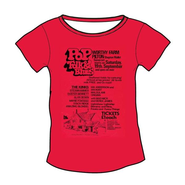 1970 Glastonbury Poster T-shirt (Womens)