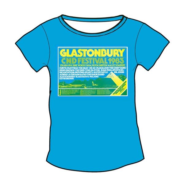 1983 Glastonbury Poster T-shirt (Womens)