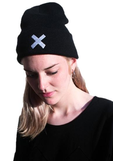 THE XX BLACK BEANIE