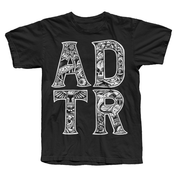 TATTOO LETTERS Black Tee