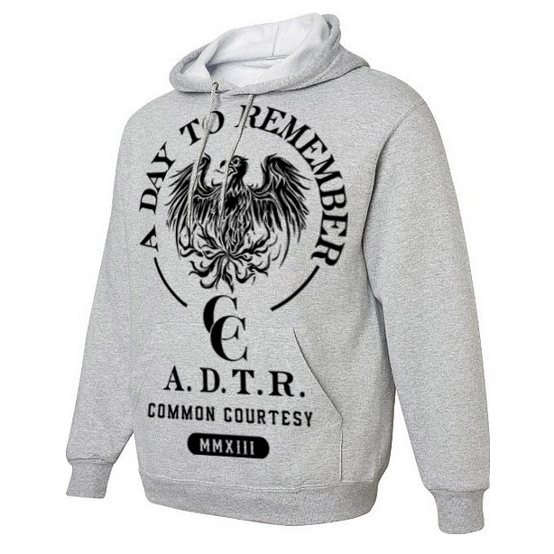 Heather Grey Common Courtesy Hoodie
