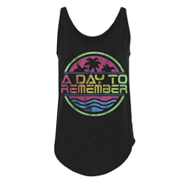 Black Palm Ladies Tank Top