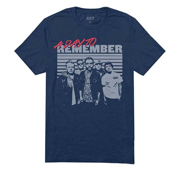 Navy Retro Photo T-Shirt