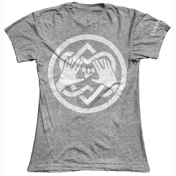 Grey Blessing Ladies T-Shirt