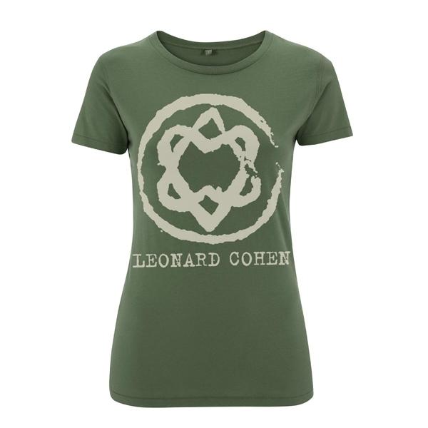Military Green Unified Heart Ladies Slim Fit Tee