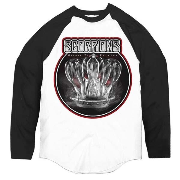 White/Black Return To Forever Crown Baseball Shirt