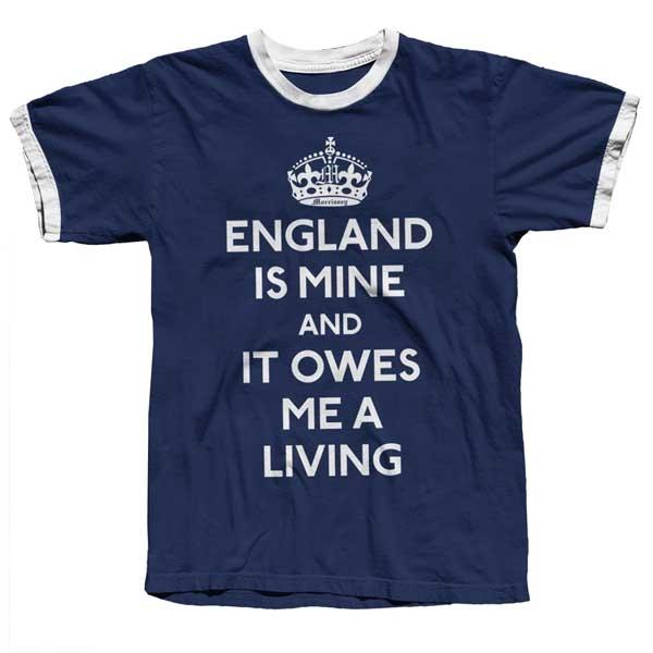 Navy England Is Mine Ringer Tee