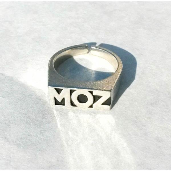 Pewter Moz Logo Ring