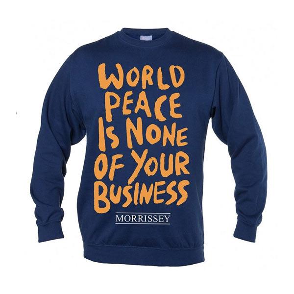 World Peace Crew Neck Sweater Navy