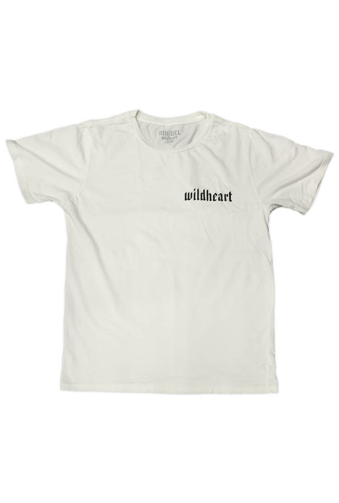 UNISEX VINTAGE WHITE WILDHEART T-SHIRT