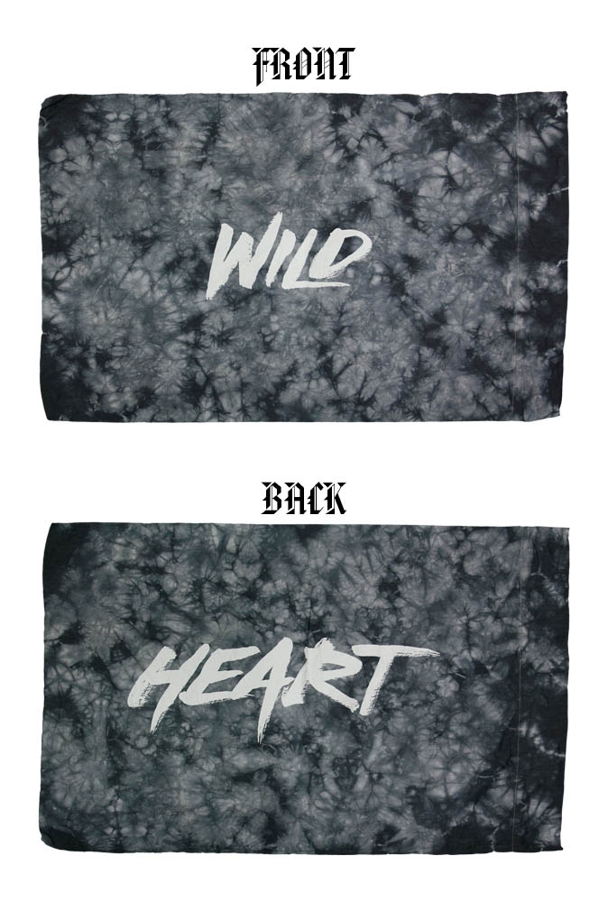 WILDHEART TIE DYE PILLOWCASE
