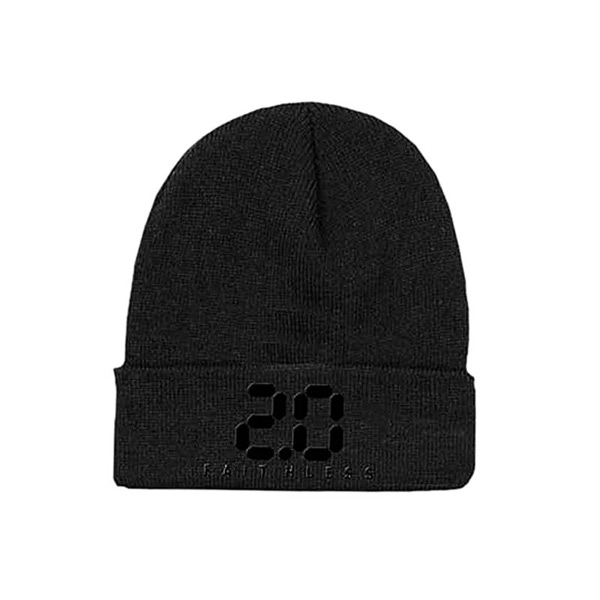 BLACK 2.0 EMBROIDERED BEANIE