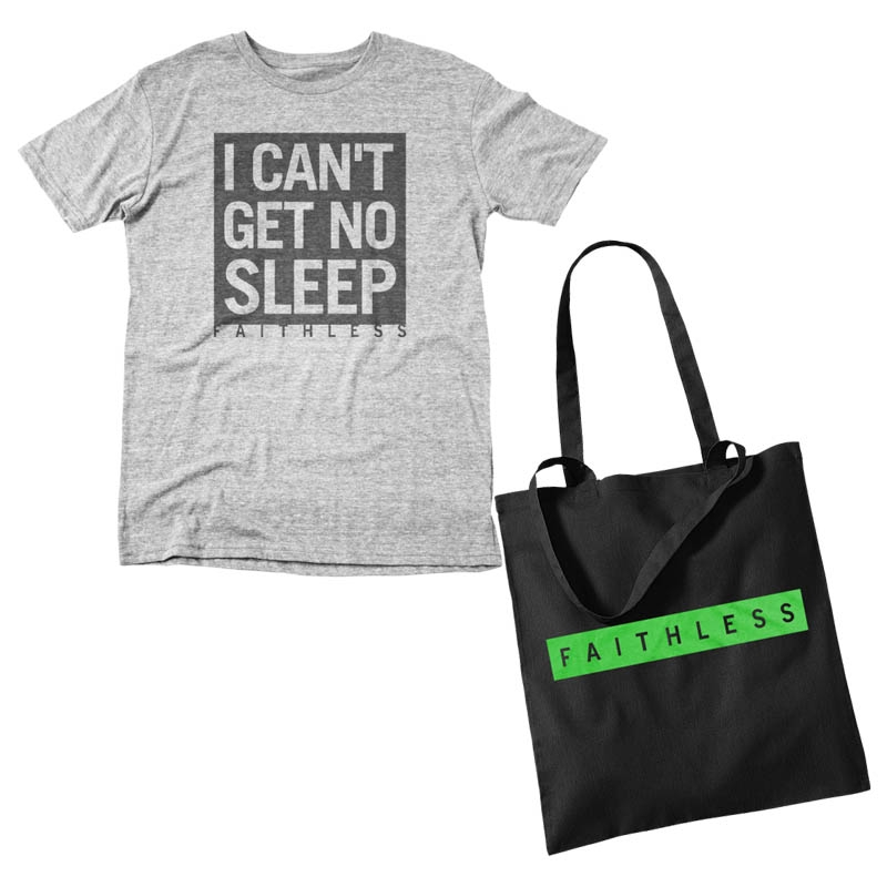 'I CAN'T GET NO SLEEP' T-SHIRT + TOTE BAG