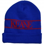 Keane Knitted Beanie (Blue) One Size