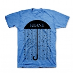 BLACK RAIN MENS T-SHIRT (HEATHER LAKE BLUE)